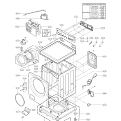 Lg Front Load Washer Parts Diagram Digital Clock Circuit Using 555 Timer Washing Machine Model Wm3070hwa Sears Partsdirect