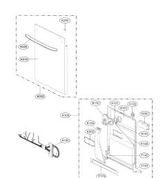door assembly parts diagram parts list for model lg dishwasher installation lg dishwasher schematics [ 1700 x 2200 Pixel ]