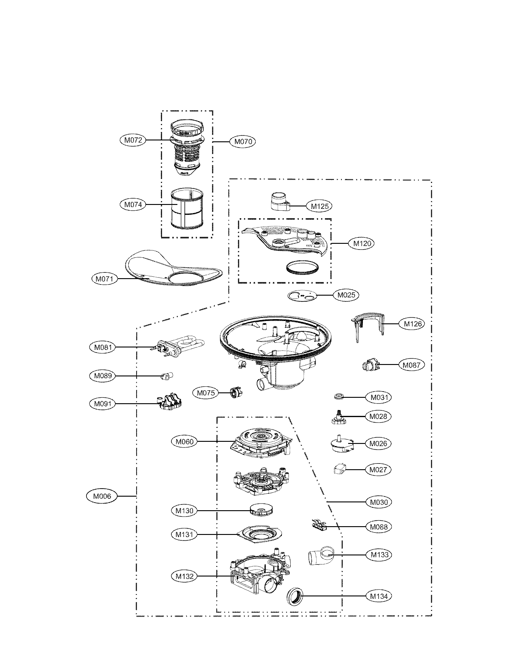 hight resolution of lg ldf7551st sump assembly parts diagram