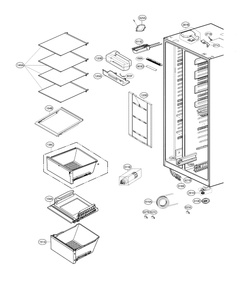 small resolution of lg lsxs26386d 02 refrigerator compartment diagram