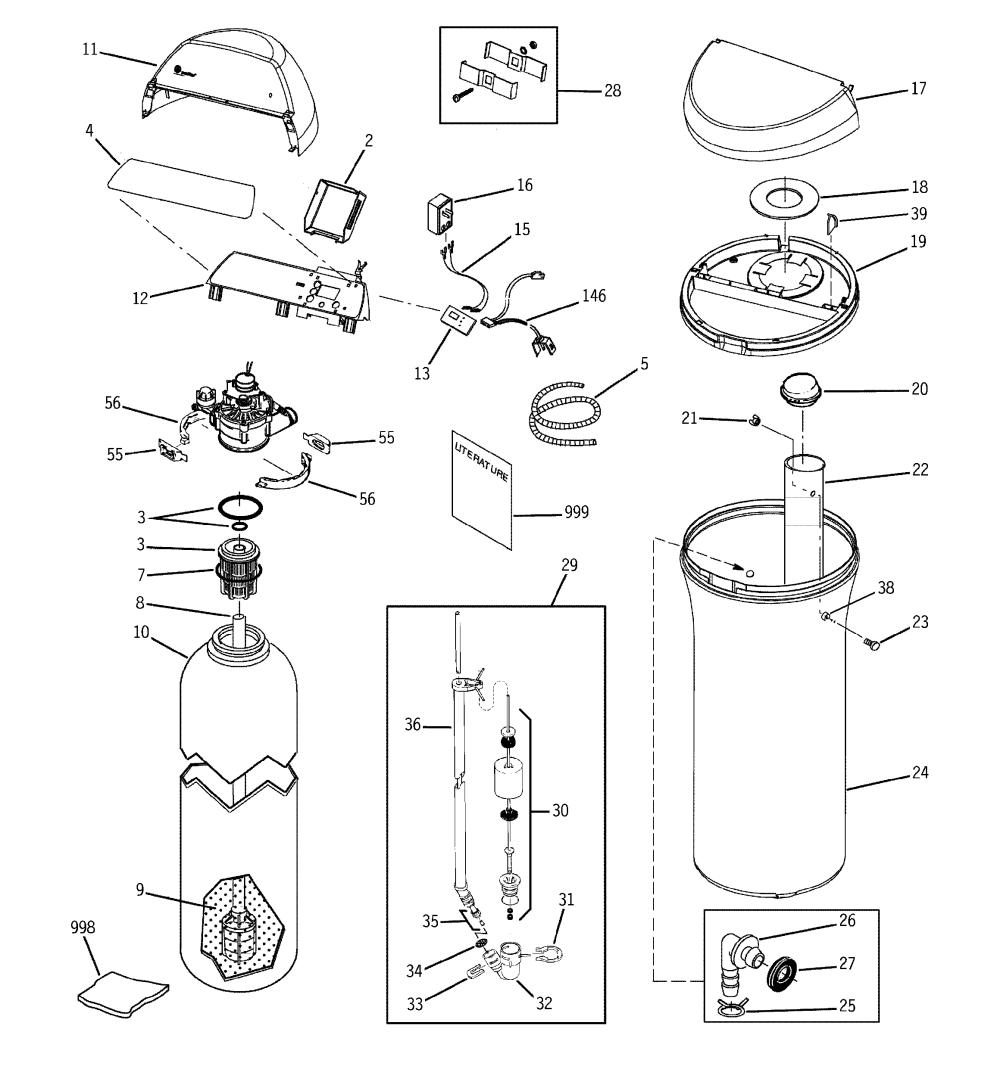 medium resolution of ge model gxsf27e01 water softener genuine parts rh searspartsdirect com typical water softener plumbing diagram sears