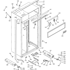 General Electric Refrigerator Parts Diagram Kenwood Excelon Stereo Wiring Case And List For Model Zisb420dmb Ge