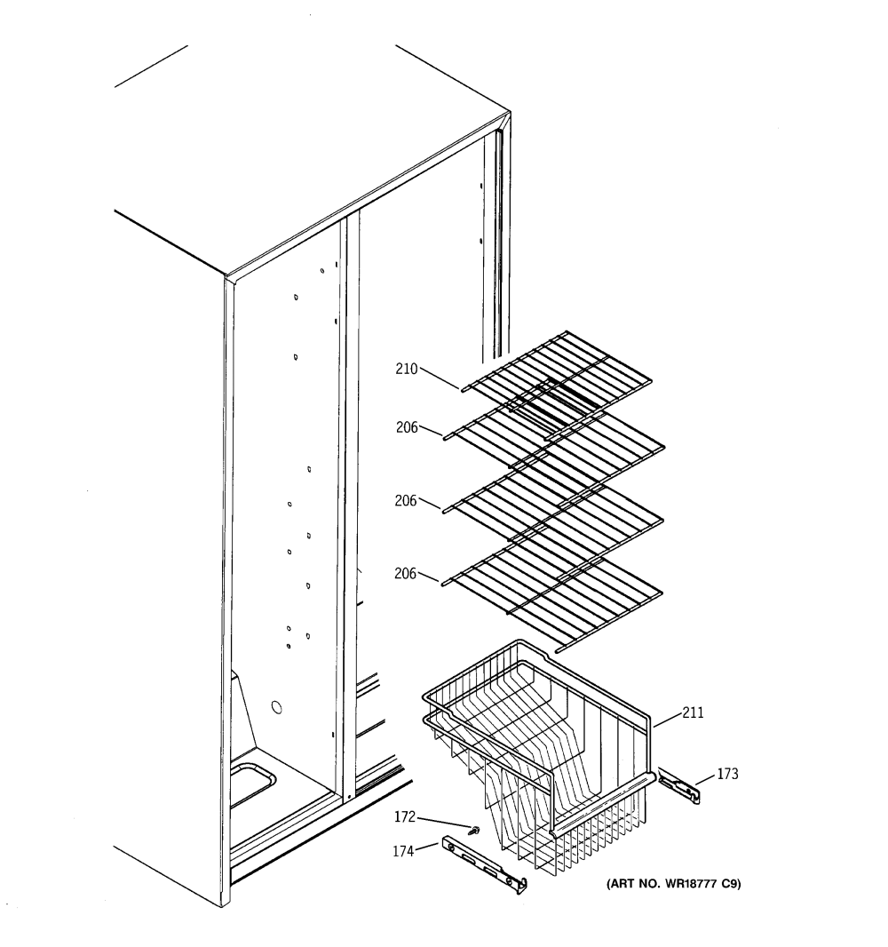 medium resolution of ge sss25sgpass freezer shelves diagram