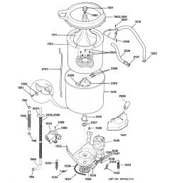 ge wsm2700wdwww washer motor tub diagram [ 2320 x 2475 Pixel ]