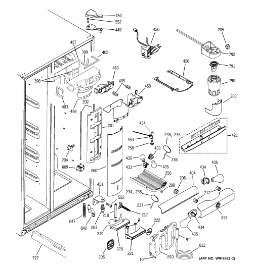 small resolution of looking for ge model psi23ngpacc side by side refrigerator repairge psi23ngpacc fresh food section diagram