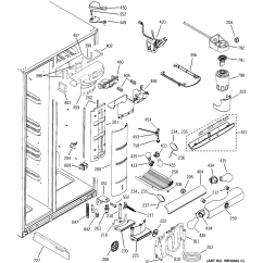 Ge Refrigerator Wiring Diagram 2009 Pontiac G6 Stereo Model Pss26sgpass Side By Genuine Parts