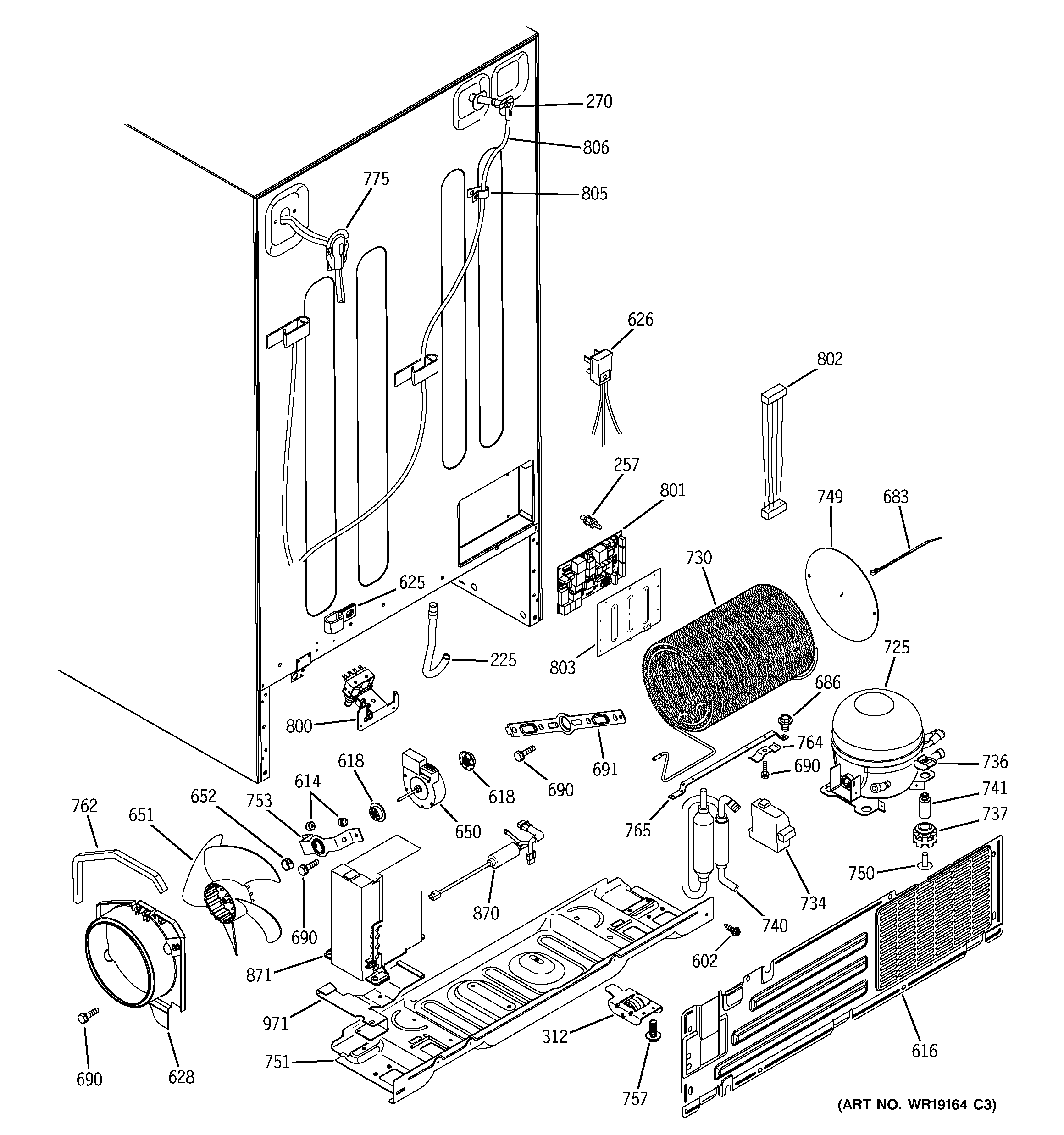 ge monogram refrigerator parts diagram range rover p38 air suspension wiring sealed system and mother board list for