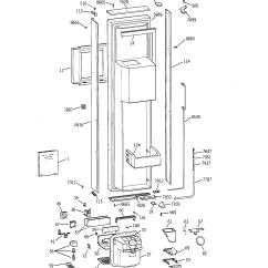 Ge Monogram Refrigerator Parts Diagram Wiring 7 Pin Trailer Plug Ford 42 Quot Ref Model Zisb42dxa Sears