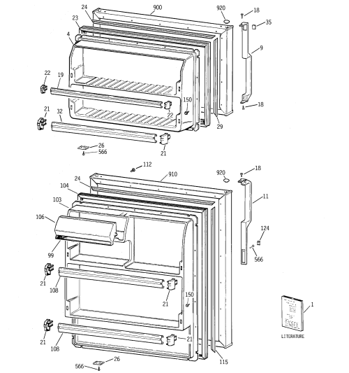 small resolution of model gts18hcmerww refrigerator wiring diagram