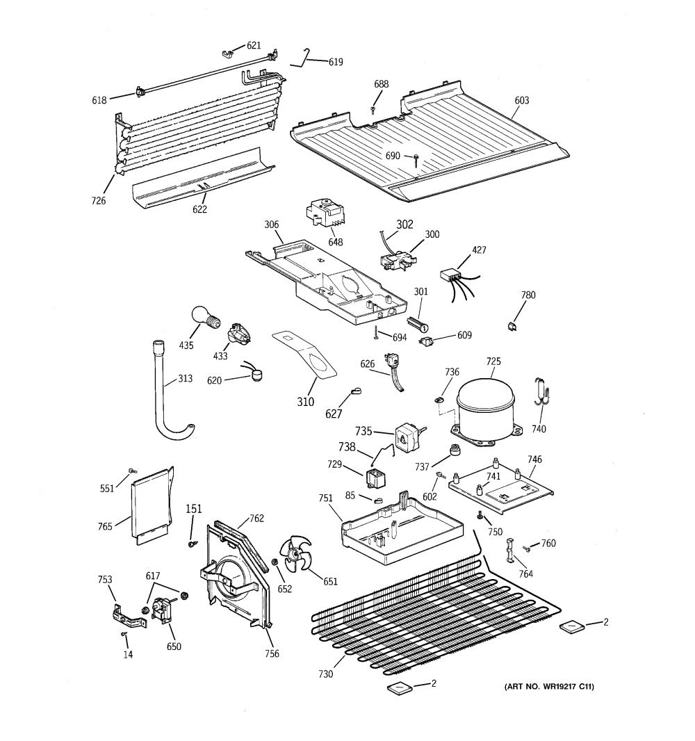 medium resolution of model gts18hcmerww refrigerator wiring diagram