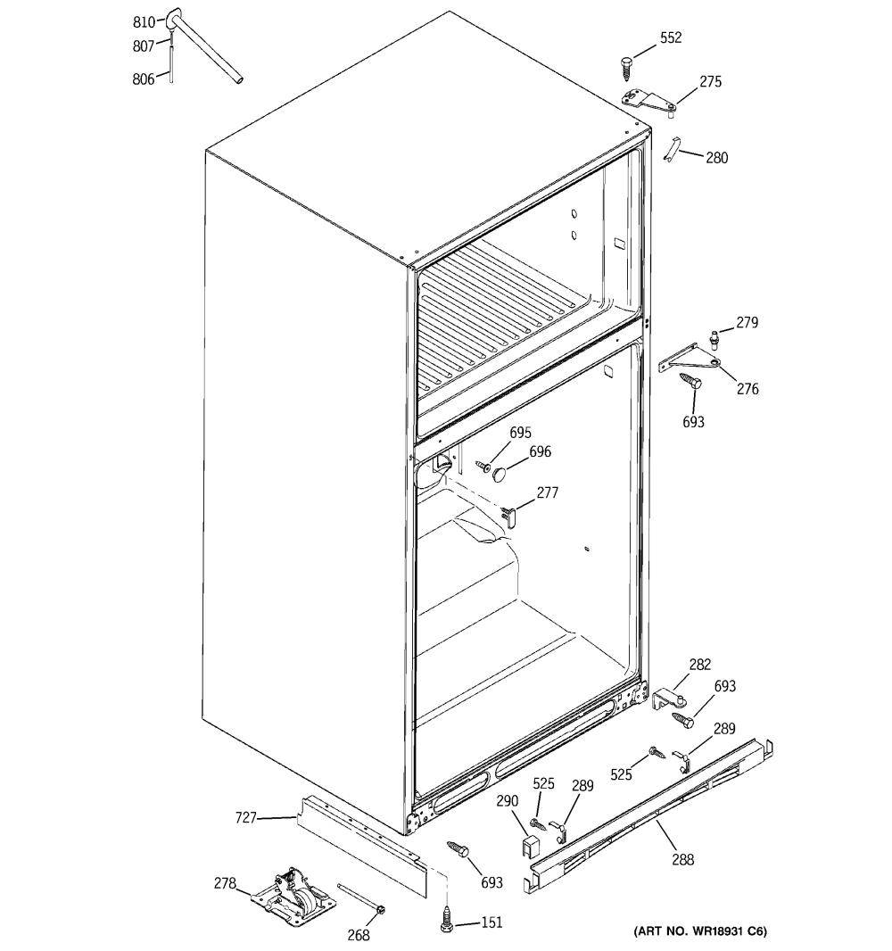 medium resolution of ge gts22kcpbrww case parts diagram