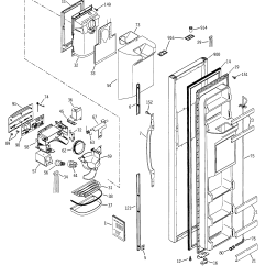 Ge Refrigerator Diagram Kenwood Radio Wiring Freezer Door And Parts List For Model Gss25jfmbcc