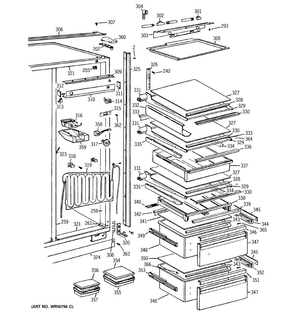 medium resolution of refrigerator parts ge arctica refrigerator parts refrigerator service manual pwb parts diagram and ge profile arctica