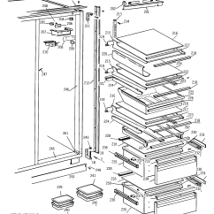 Ge Refrigerator Diagram Electrical Wiring Diagrams 2 Way Switch Refrigerators Doors Parts Model Bis42ajd