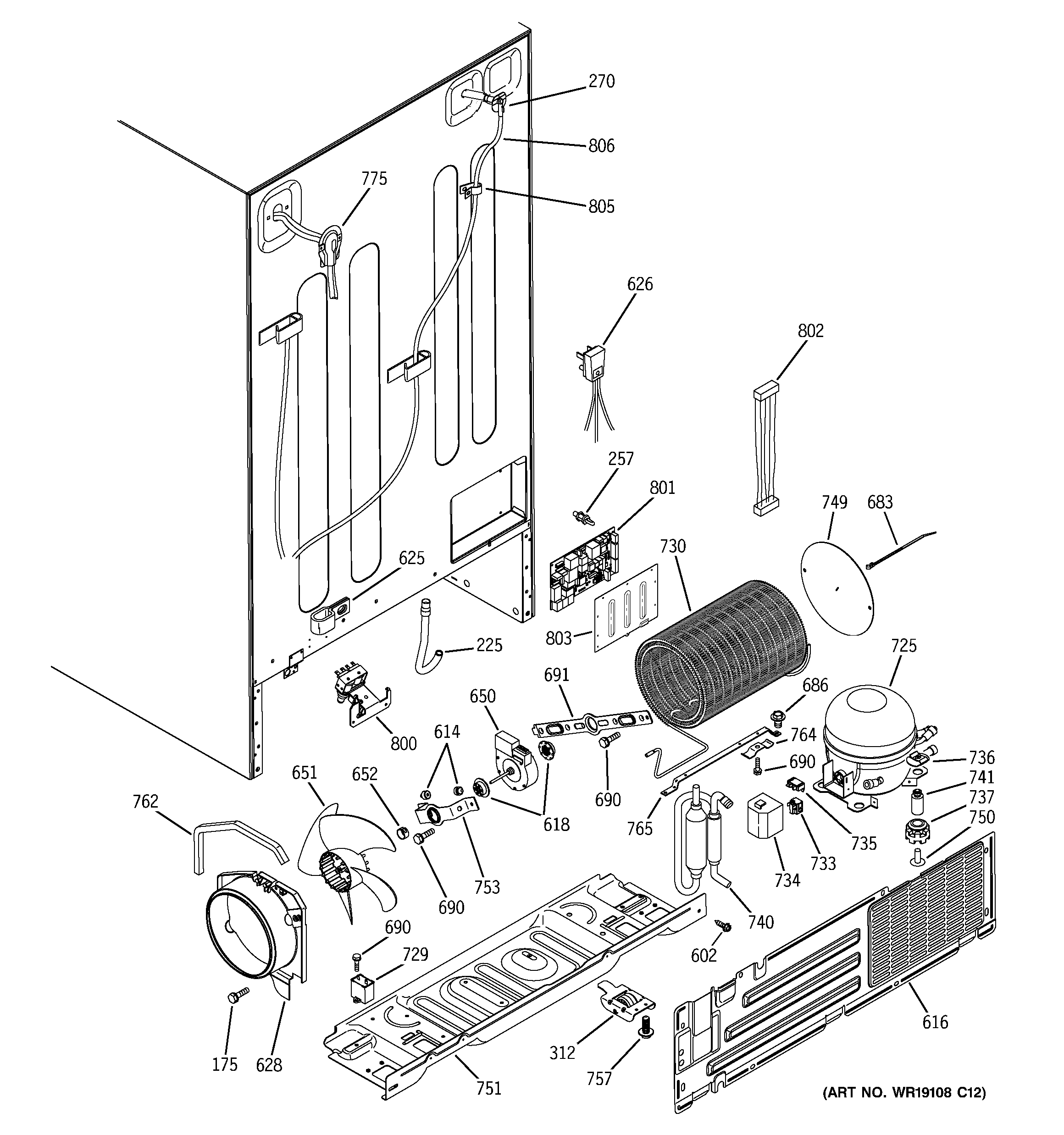 Ge Side By Refrigerator Parts Diagram Wiring Diagrams