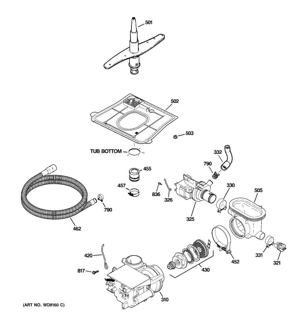 medium resolution of ge gsd5500g03ww motor pump mechanism diagram