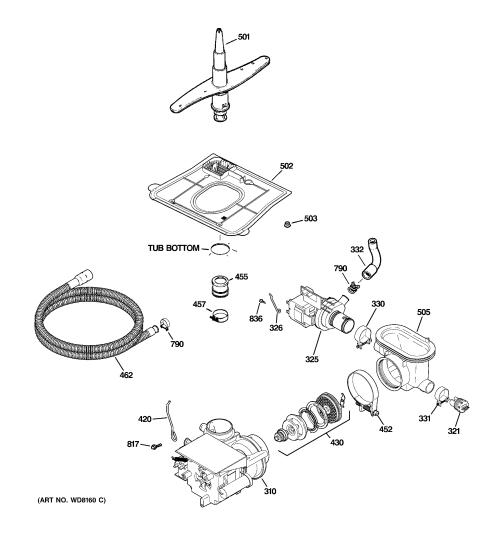 small resolution of ge gsd5500g03ww motor pump mechanism diagram