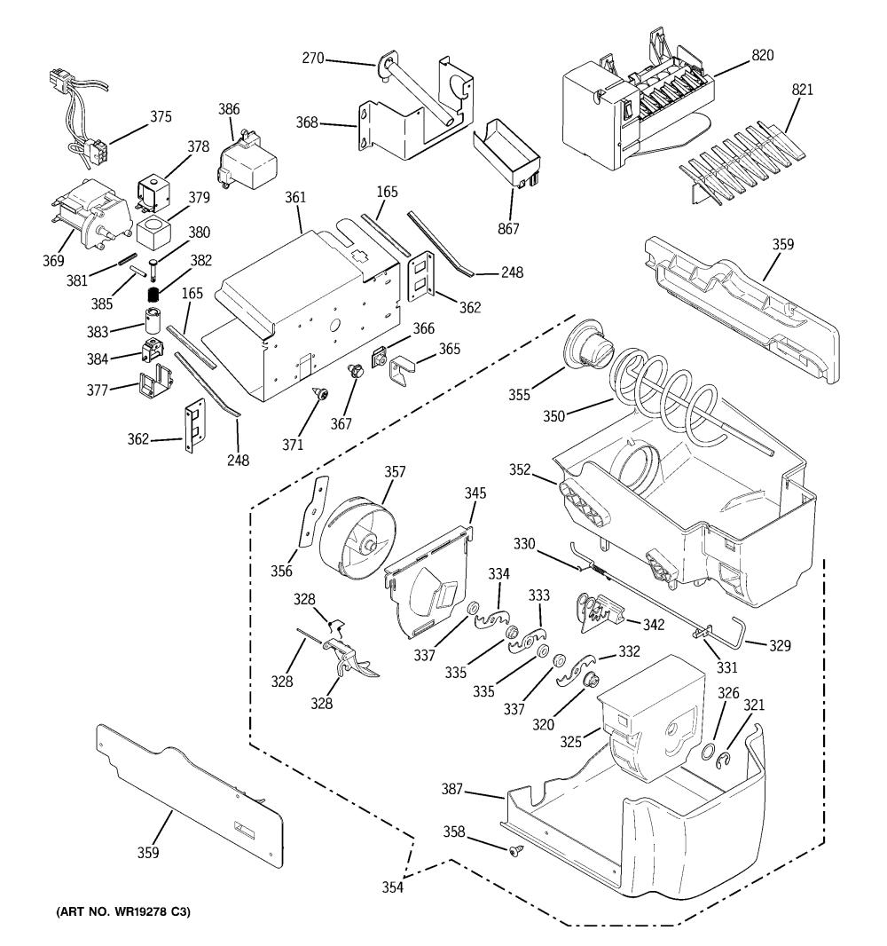 medium resolution of looking for ge model dss25kgrbww side by side refrigerator repair ge fridge wiring diagram