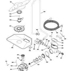Ge Dishwasher Parts Diagram Wiring For Light Switch Escutcheon And Door Assembl Model