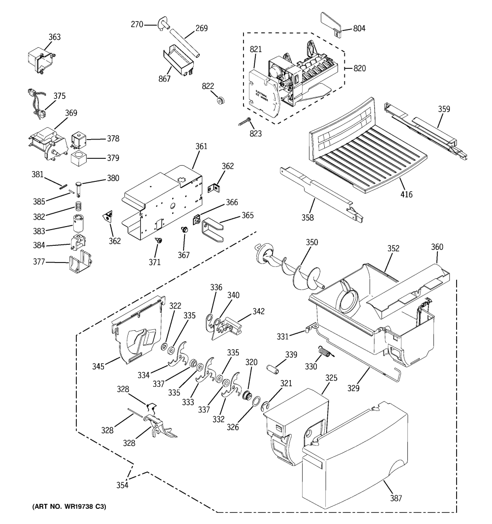 medium resolution of ge gss25jsress ice maker dispenser diagram