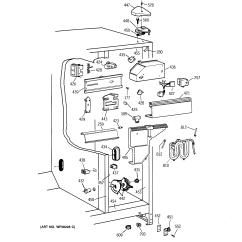Ge Refrigerator Diagram Whelen 295hfsa1 Wiring 95 Profile Disp Fresh Food Section Parts Model