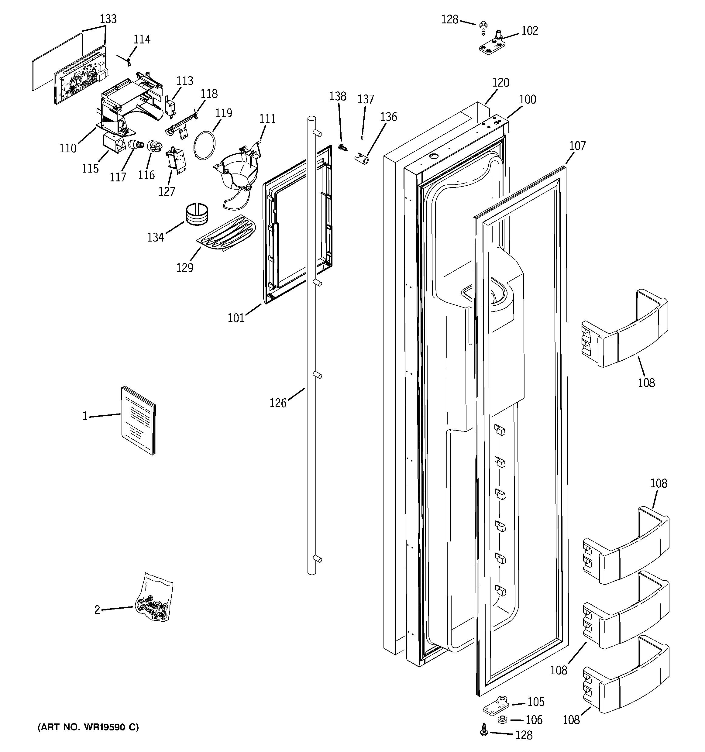 ge monogram refrigerator parts diagram 2001 saturn sl wiring r series model ziss480drgss
