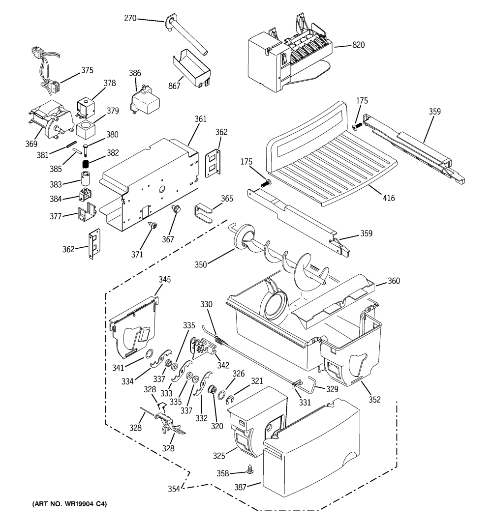 medium resolution of ge model gss25wstass side by side refrigerator genuine parts ge freezer parts diagram ge refrigerator wiring diagrams gss25wstss