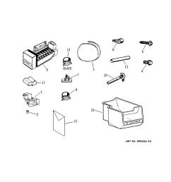 ge profile refrigerator ice maker parts pictures ge profile refrigerator tpx24 manual [ 2320 x 2475 Pixel ]