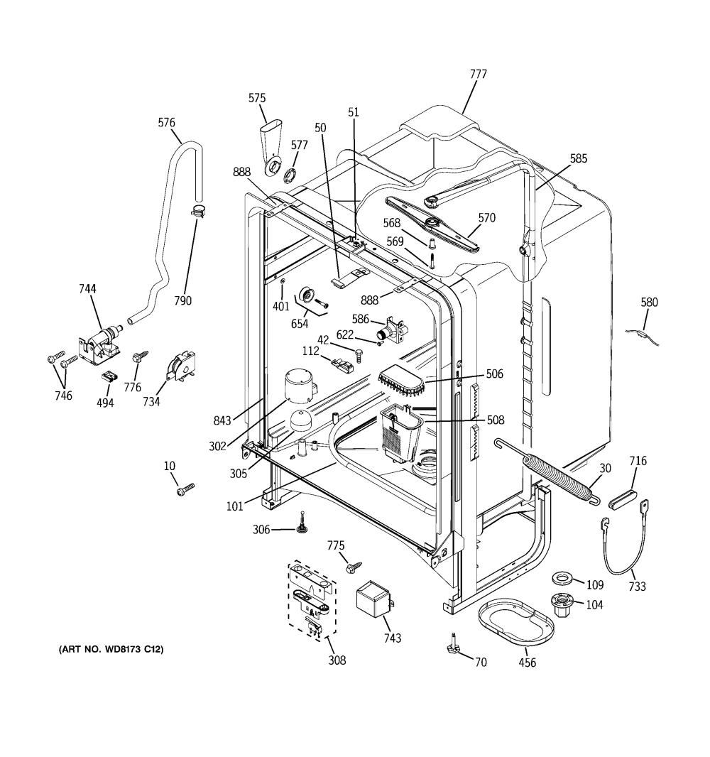 medium resolution of ge gld5500l00cc body parts diagram