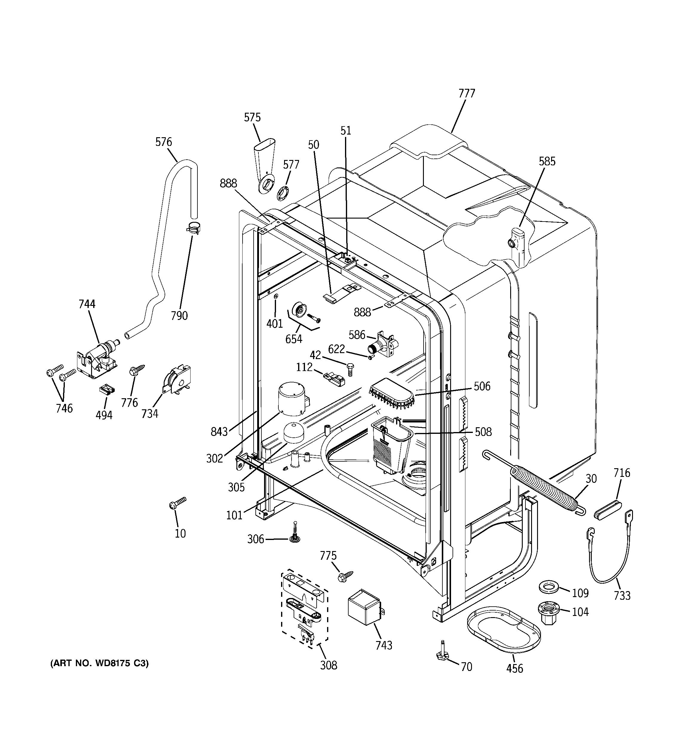 Wiring Diagram For Ge Dishwasher