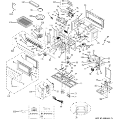 Ge Spacemaker Microwave Parts Diagram Ez Go Textron Battery Wiring Oven Model Jvm3670bf07 The Bottom