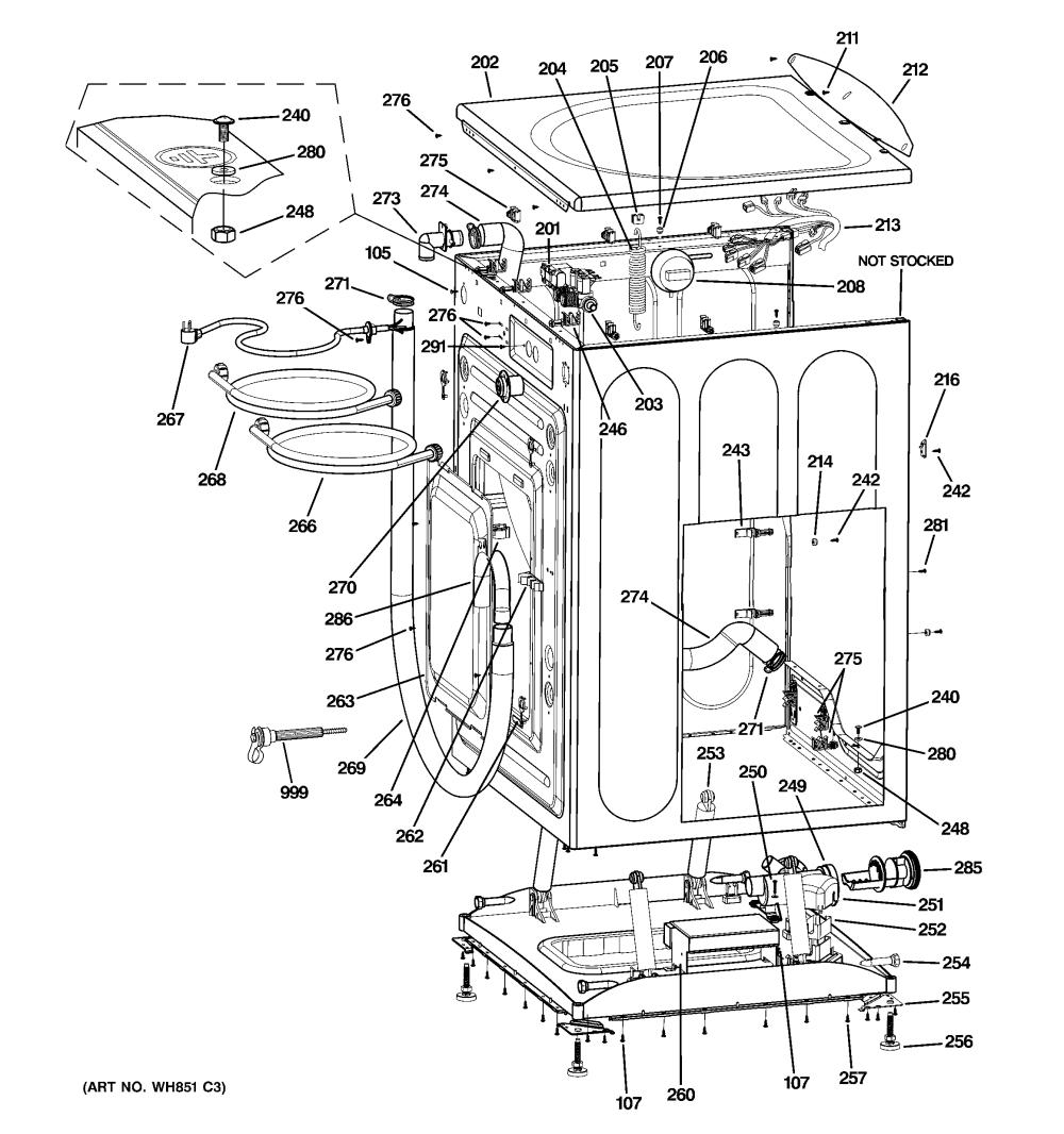 medium resolution of ge wbvh5100h1ww cabinet top panel diagram