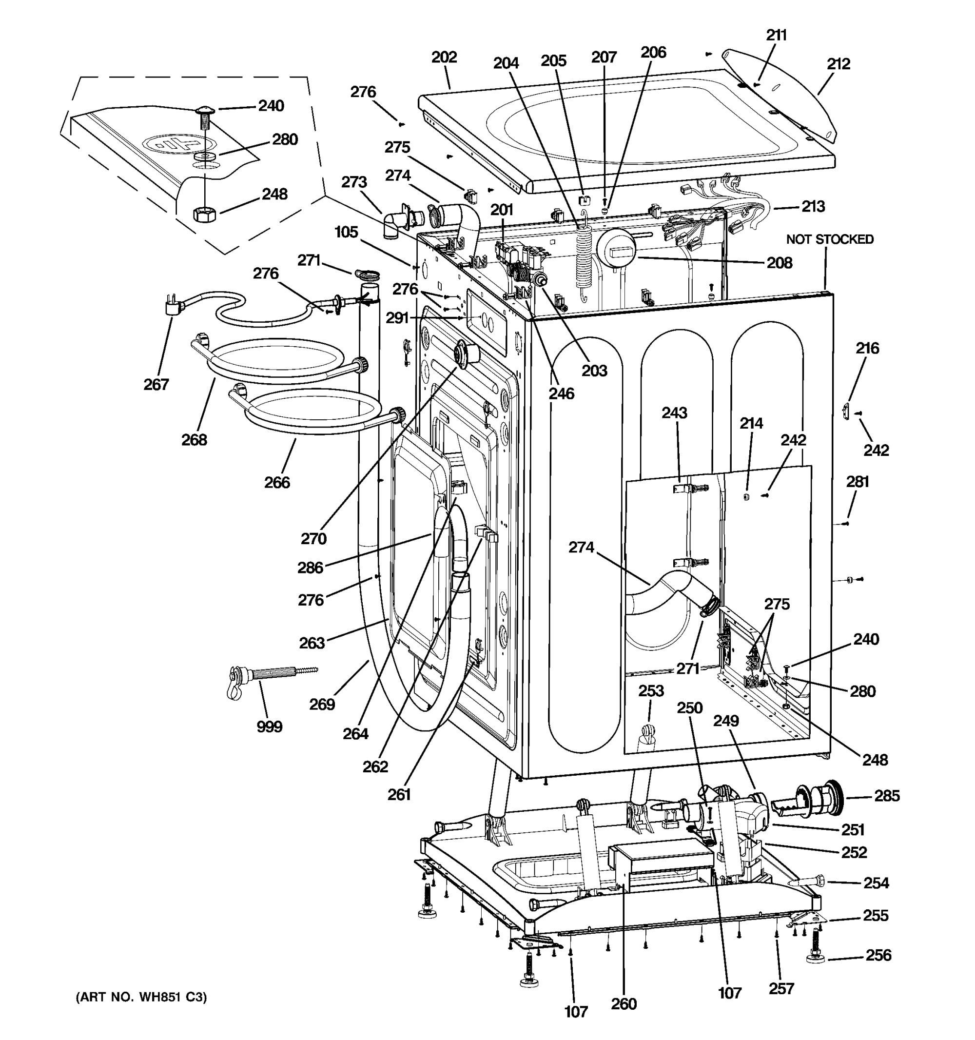 hight resolution of ge wbvh5100h1ww cabinet top panel diagram
