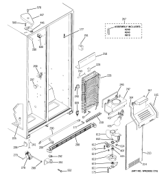 ge model bss25jstcss side by refrigerator genuine parts parts diagram hotpoint refrigerator wiring [ 2320 x 2475 Pixel ]