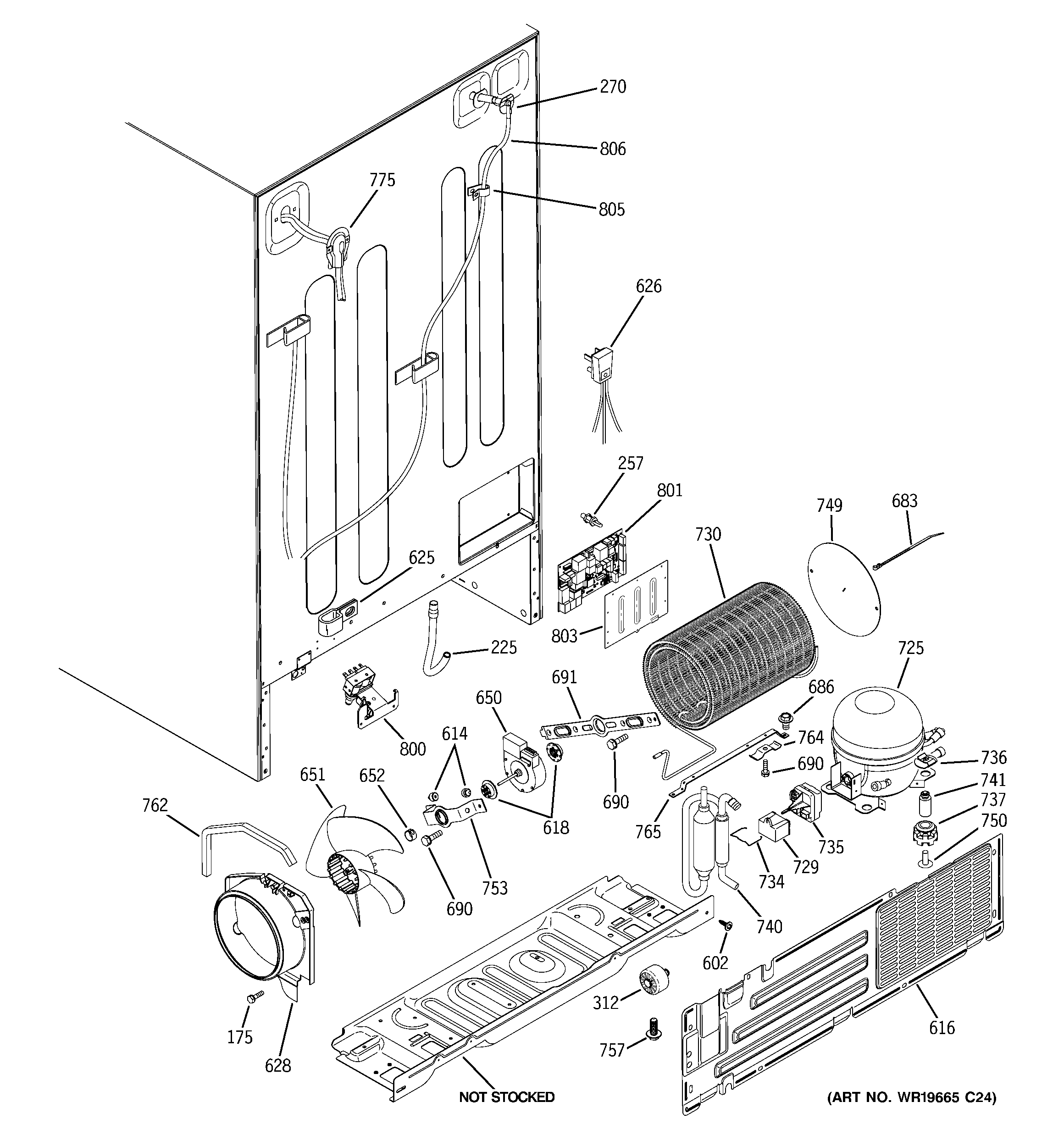 small resolution of ge gscs3pgxafss sealed system mother board diagram