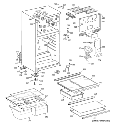looking for hotpoint model hts18gbsbrcc top mount refrigerator repair replacement parts  [ 2320 x 2475 Pixel ]