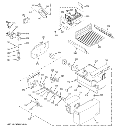 ice maker dispenser diagram and parts list for electrolux ge model gsf25igxbbb side by side refrigerator [ 2320 x 2475 Pixel ]