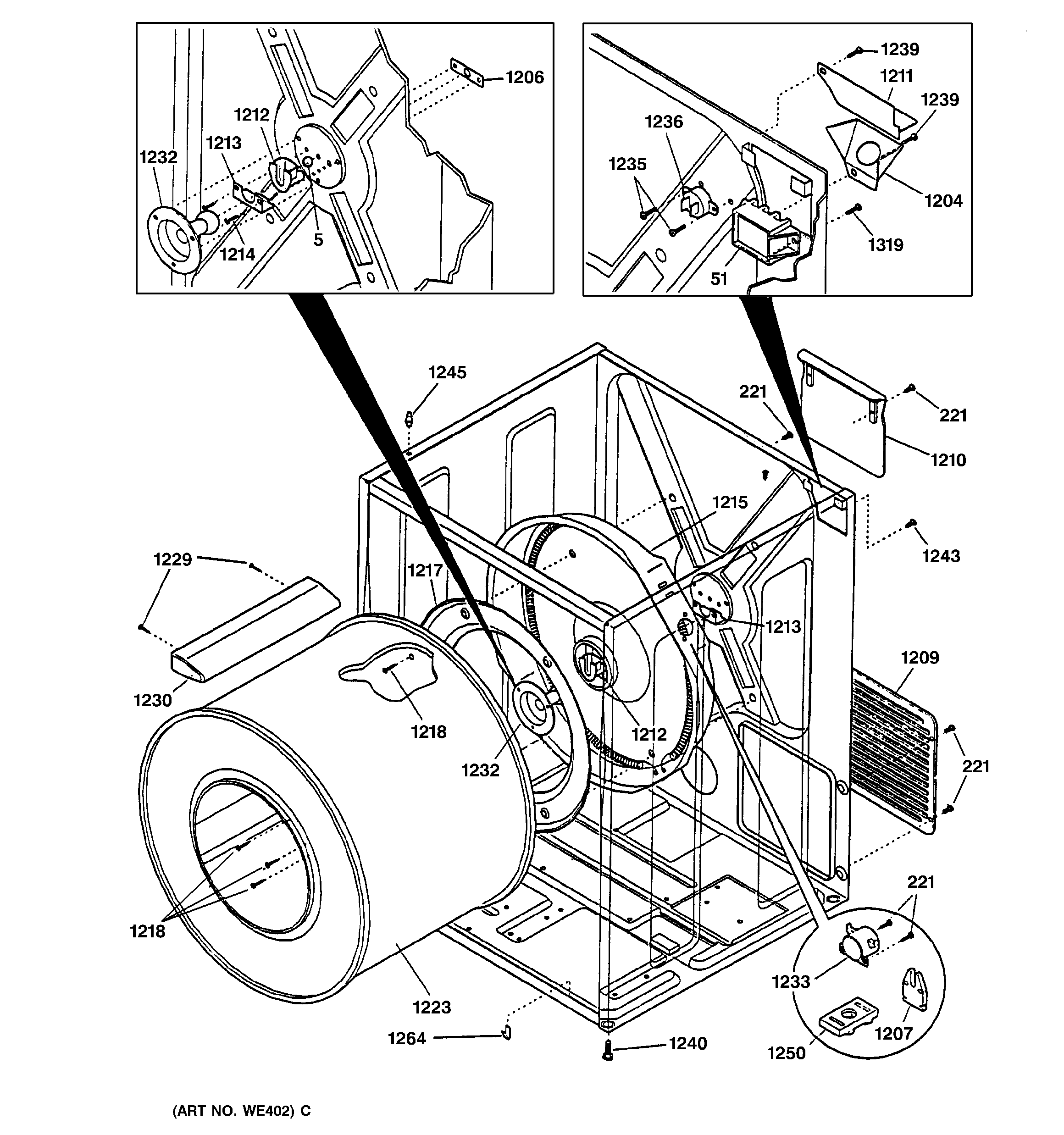 includes a ge dryer parts diagram along with an official ge dryer ge profile gas dryer parts diagram ge dryer parts diagram [ 2320 x 2475 Pixel ]