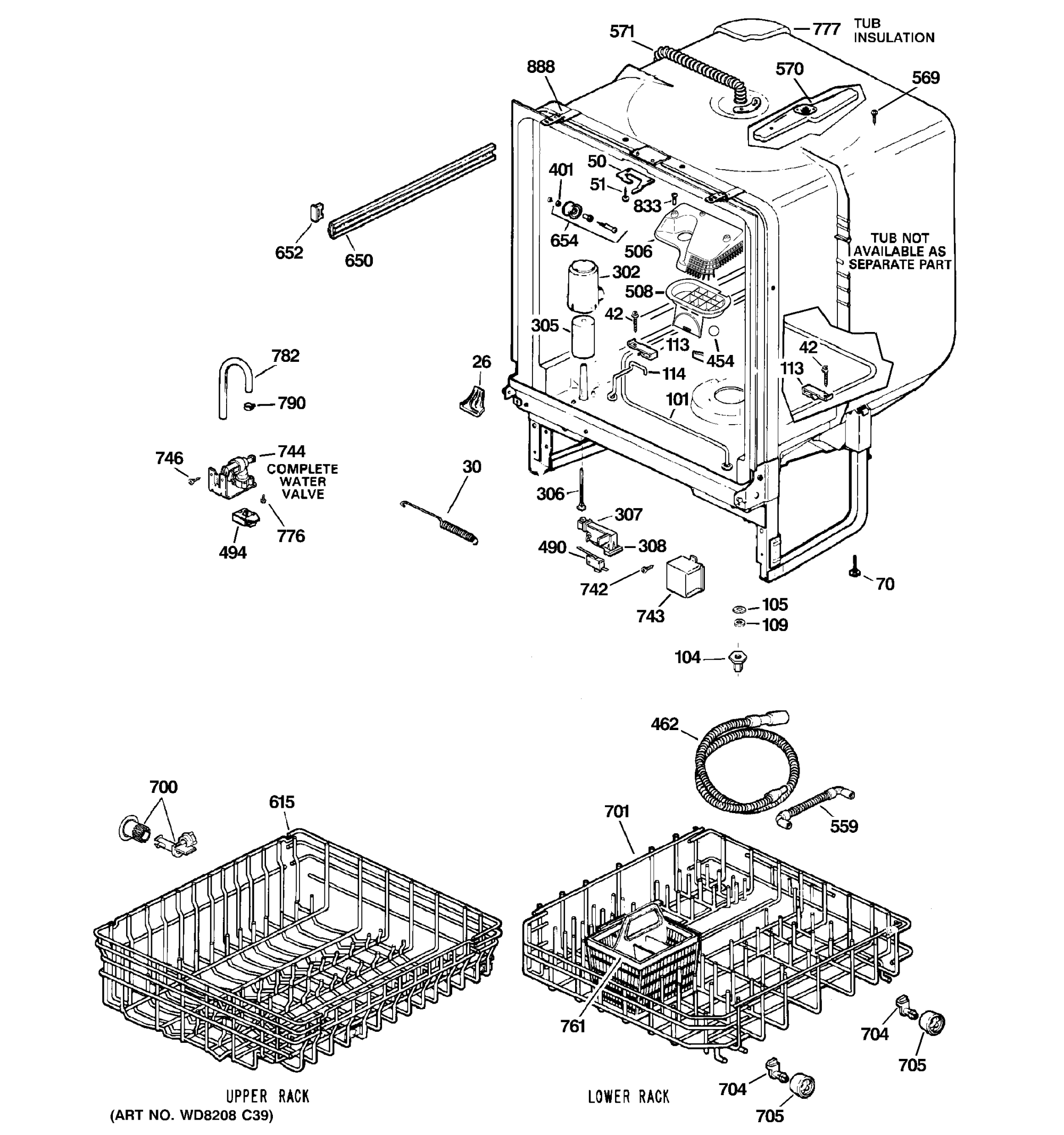hight resolution of ge gsd4000n20cc body parts diagram