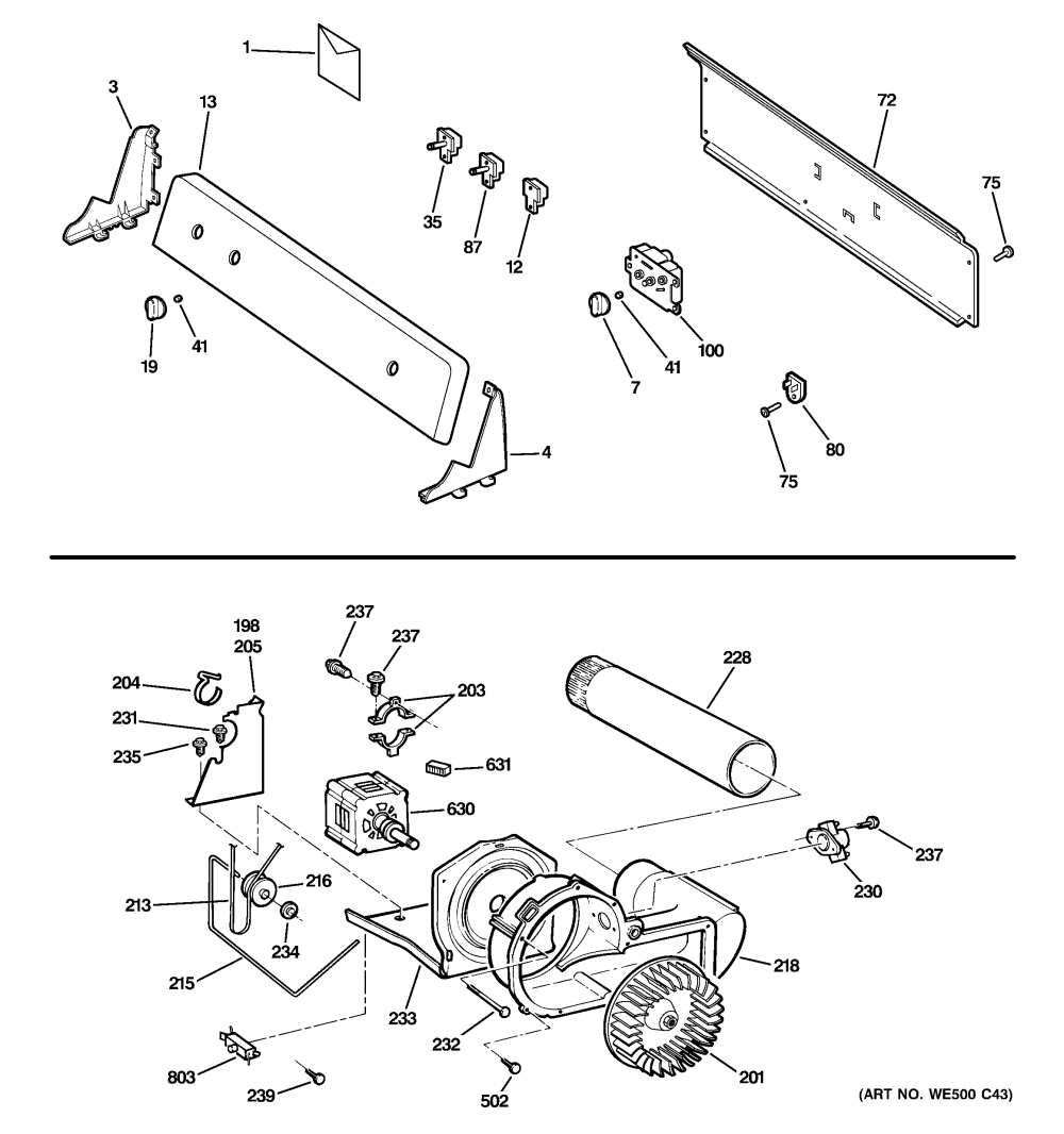 medium resolution of ge dbsr463eg6ww backsplash blower motor assembly diagram