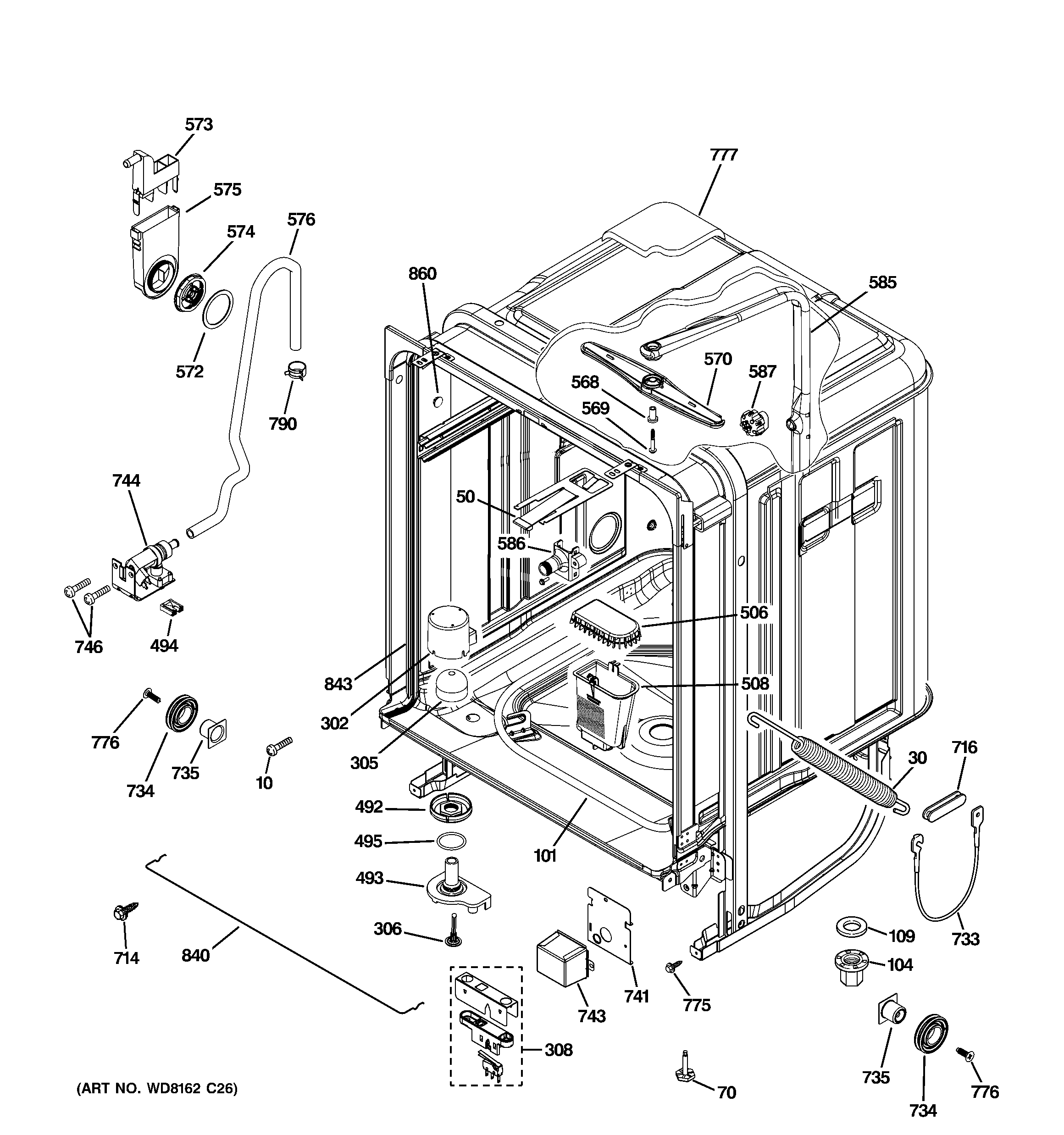 Bosch Dishwasher Parts: Bosch Dishwasher Parts Exploded View