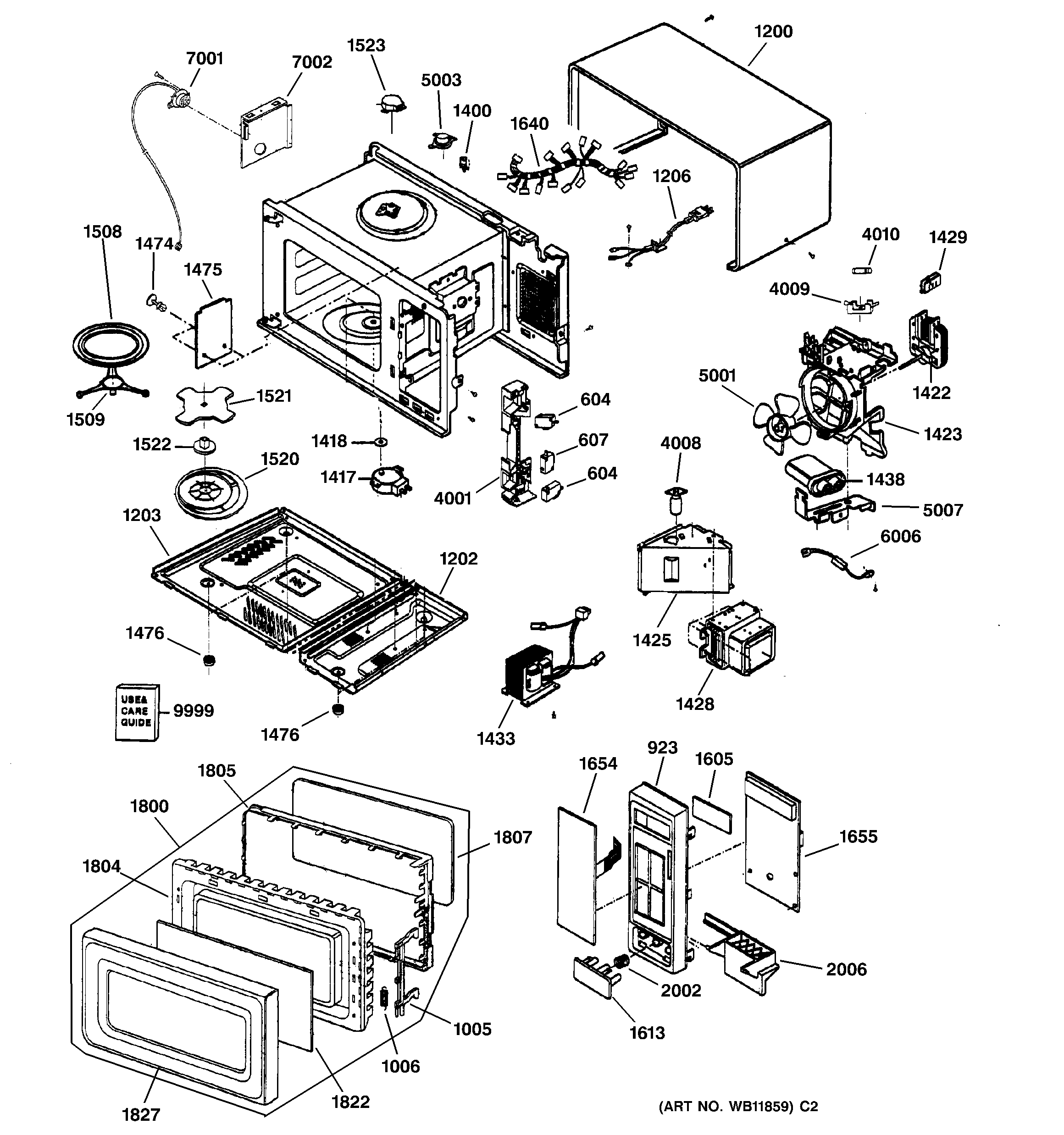 wiring diagram of microwave oven