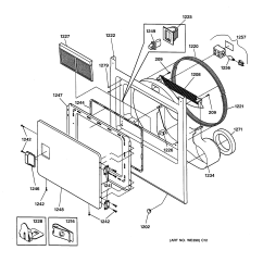 Ge Dryer Door Switch Wiring Diagram Australian Phone Connection Front Panel And Parts List For Model