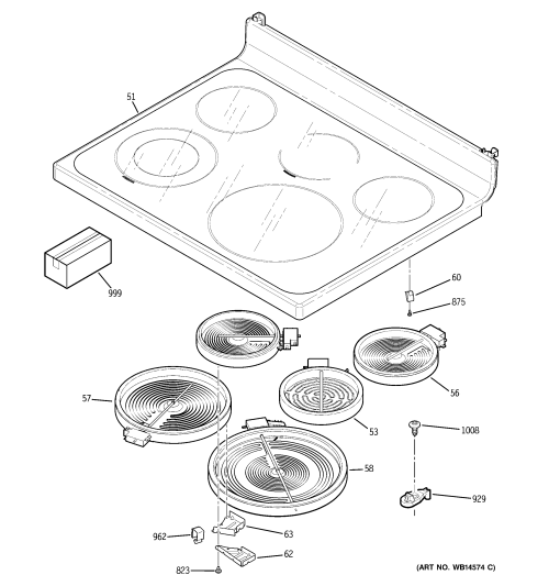 small resolution of ge jb650dn1bb cooktop diagram