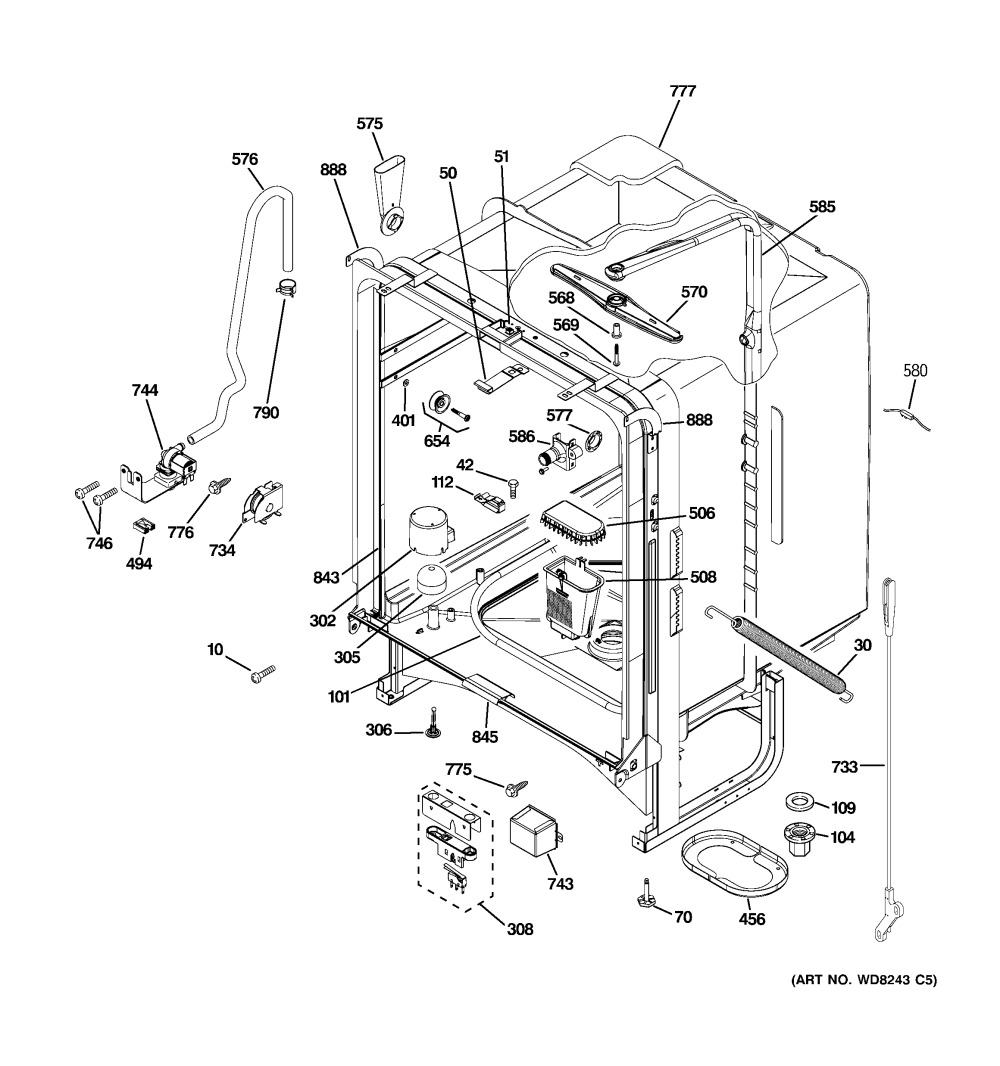 medium resolution of ge profile refrigerator freezer parts moreover ge dryer wiring diagram