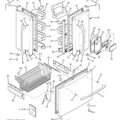 Ge Refrigerator Diagram Bosch Washing Machine Parts Bottom Mount Model Pfsf5pjycbb