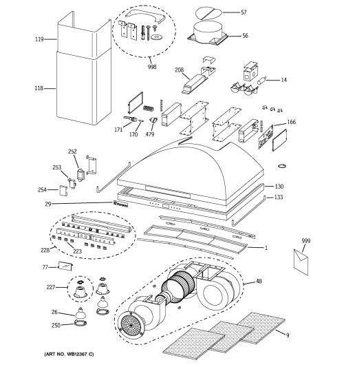 small resolution of ge zv950sd2ss range hood diagram