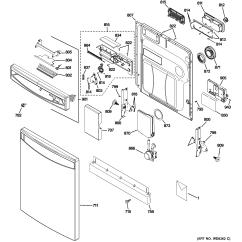 Ge Dishwasher Parts Diagram 1997 International 4700 Wiring Model Pdwf800r10bb Sears Partsdirect