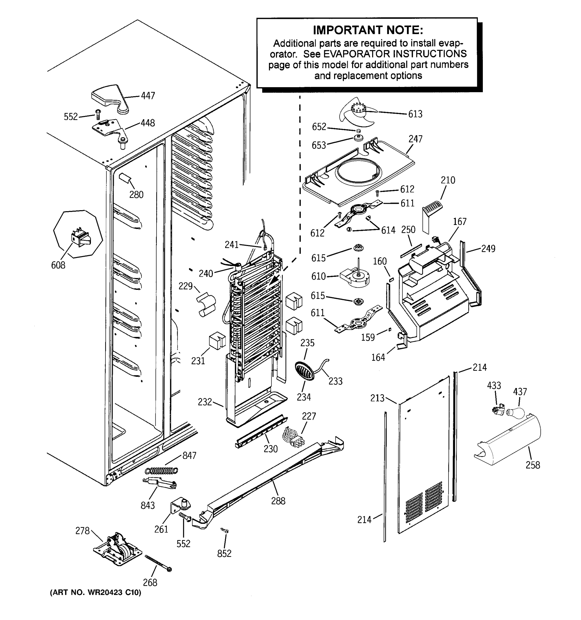 hight resolution of ge gshs6kgzbcss freezer section diagram
