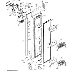 Ge Profile Arctica Parts Diagram Wiring For Universal Headlight Switch Refrigerator M Series Model Psi23ngmdcc Sears